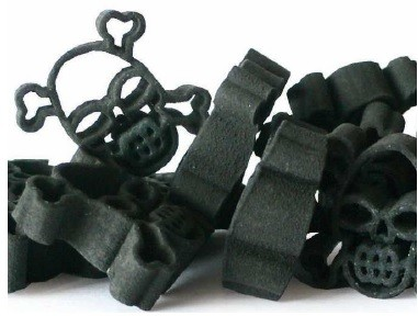 Totenkopf Nudeln schwarz