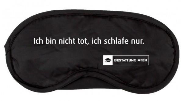 """Schlafmaske """"Ich bin nicht tot, ich schlafe nur."""" - Bestattung Wien"""