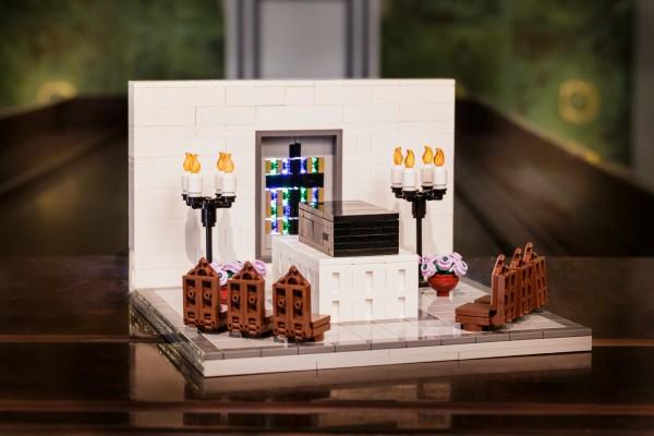 Trauerhalle aus LEGO(R) Komponenten