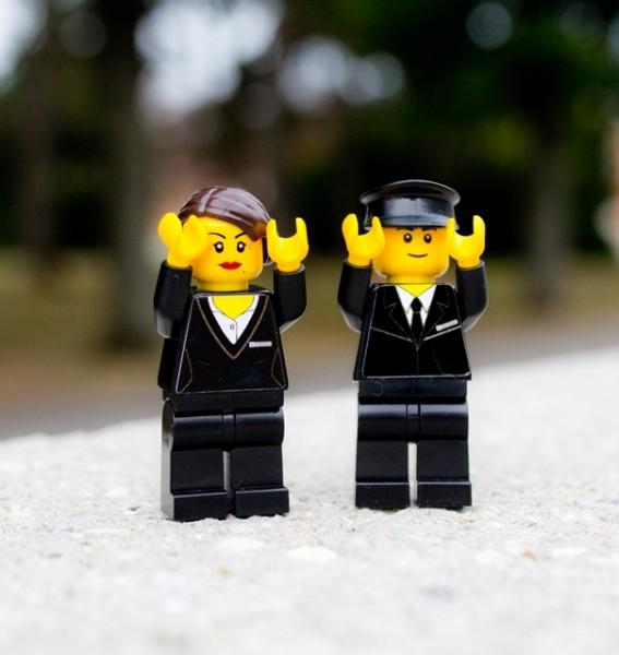 Bestattung Minifiguren aus LEGO(R) Komponenten
